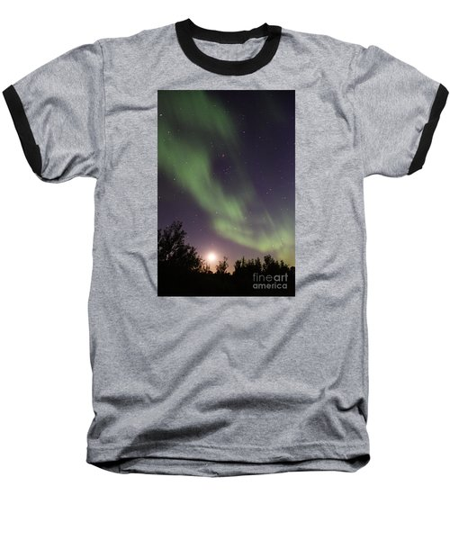 Baseball T-Shirt featuring the photograph Dancing With The Moon by Larry Ricker