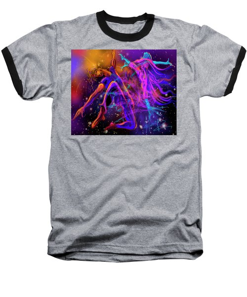 Baseball T-Shirt featuring the painting Dancing With The Universe by DC Langer