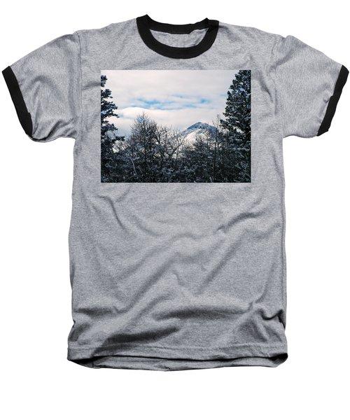 Dancing Woman Mountain In The Winter Baseball T-Shirt