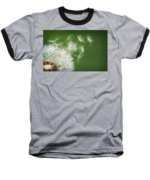 Baseball T-Shirt featuring the photograph Dandelion Blowing by Bess Hamiti