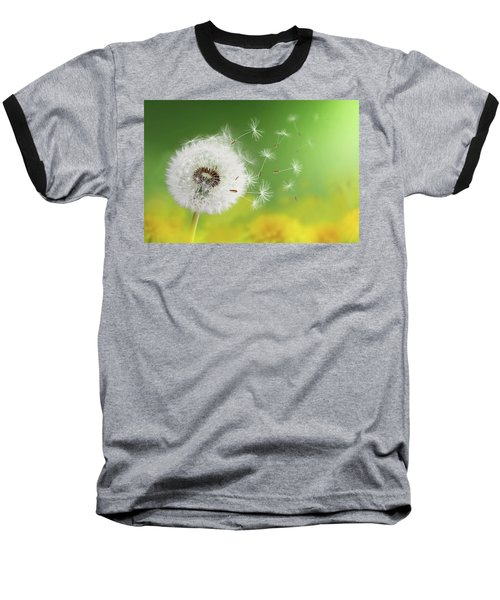 Baseball T-Shirt featuring the photograph Dandelion Clock In Morning by Bess Hamiti