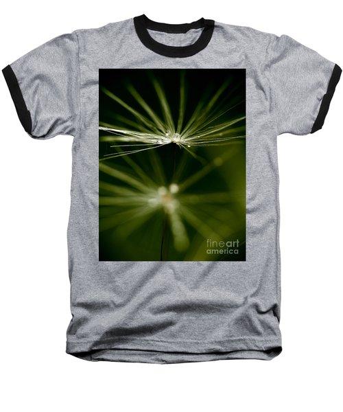 Dandelion Flower With Water Drops  Baseball T-Shirt