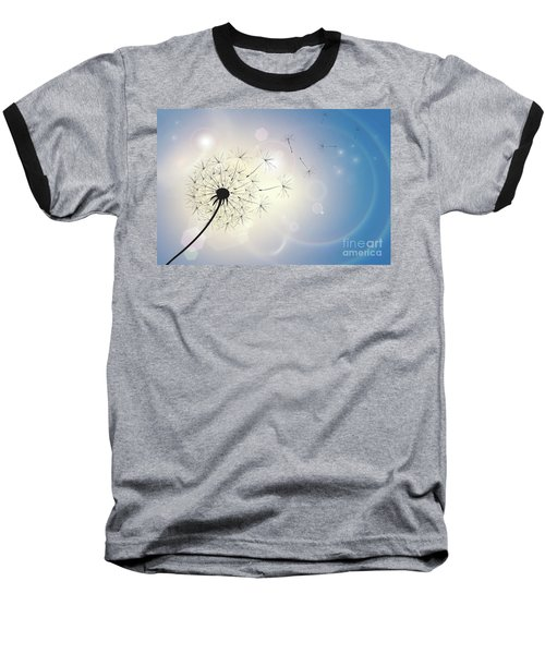 Dandelion In A Summer Breeze Baseball T-Shirt