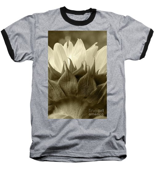 Baseball T-Shirt featuring the photograph Dandelion In Sepia by Micah May