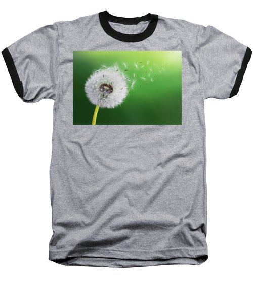 Baseball T-Shirt featuring the photograph Dandelion Seed by Bess Hamiti