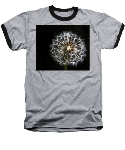 Baseball T-Shirt featuring the photograph Dandelion Seed by Darcy Michaelchuk