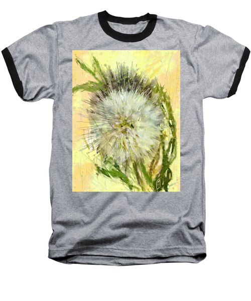 Baseball T-Shirt featuring the drawing Dandelion Sunshower by Desline Vitto