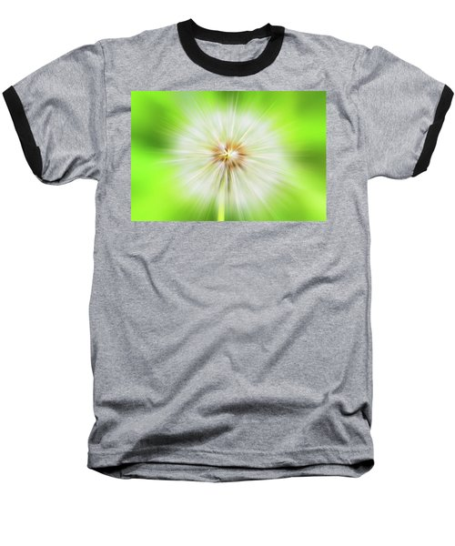 Dandelion Warp Baseball T-Shirt by David Stasiak