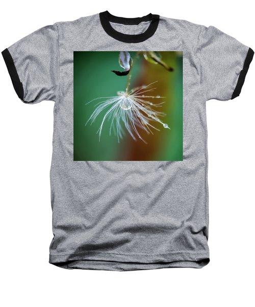 Dandelion Water Drop Macro 2 Baseball T-Shirt