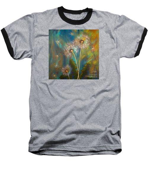 Dandelion Wishes Baseball T-Shirt by Deborha Kerr