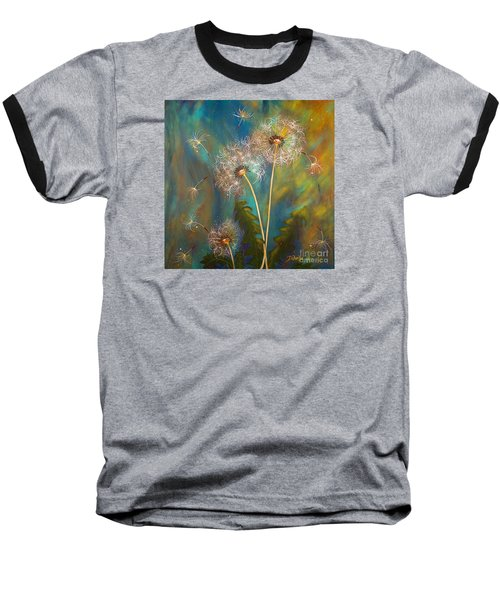 Dandelion Wishes Baseball T-Shirt