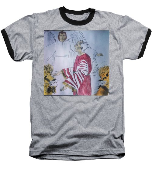 Daniel And Lion's Den Baseball T-Shirt