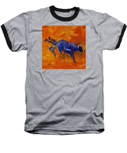 Baseball T-Shirt featuring the painting Danny At The Rodeo by Janice Rae Pariza