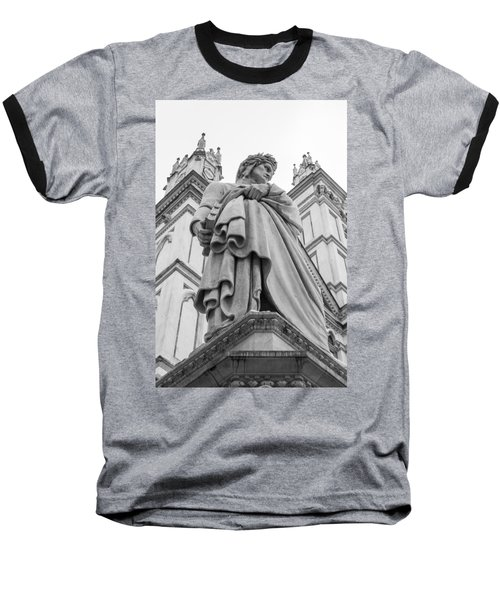 Baseball T-Shirt featuring the photograph Dante Alighieri by Sonny Marcyan