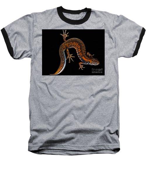 Danube Crested Newt Baseball T-Shirt