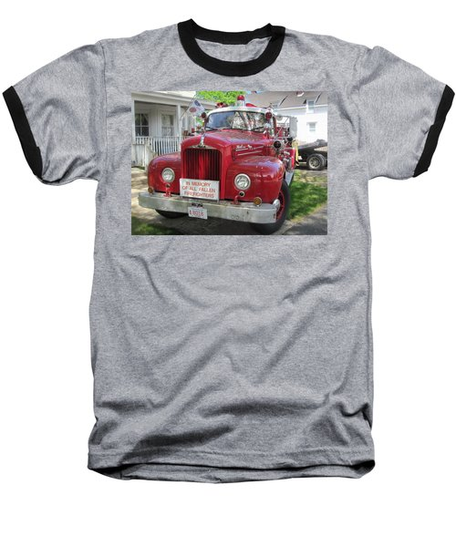 Danvers - Old Fire Engine Baseball T-Shirt by Paul Meinerth