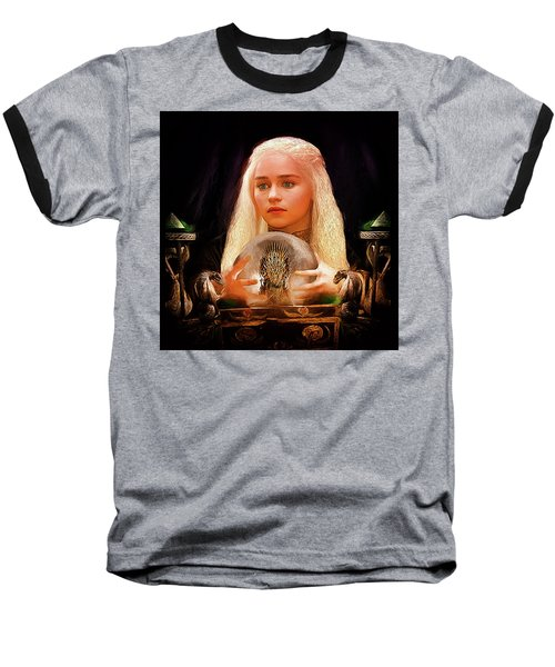 Baseball T-Shirt featuring the painting Dany by Michael Cleere