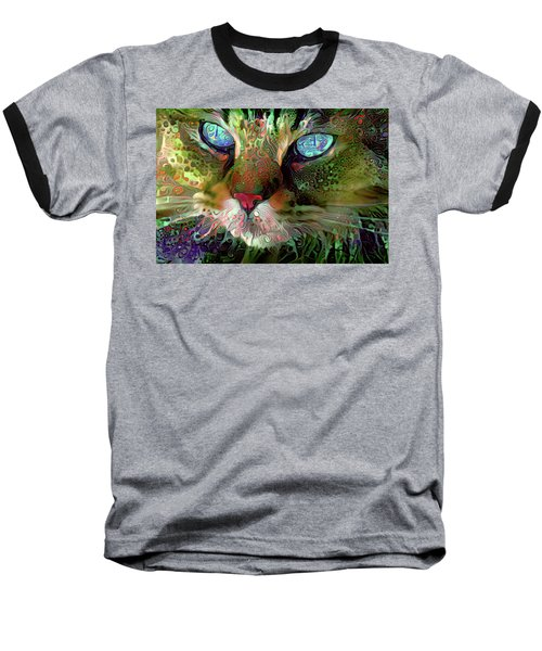Darby The Long Haired Cat Baseball T-Shirt