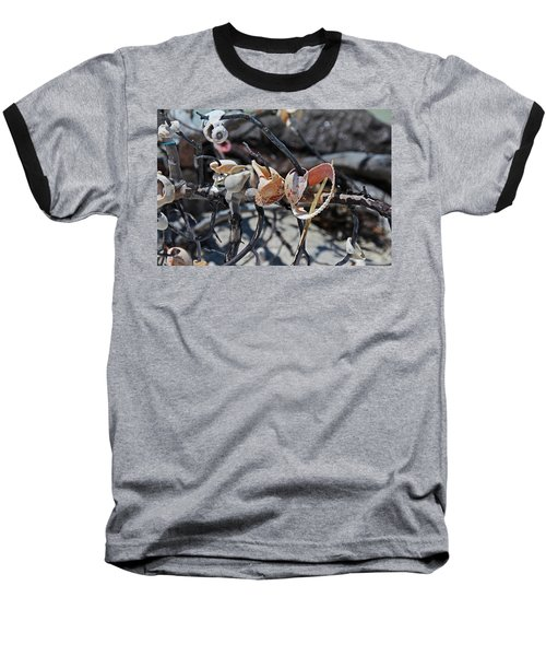 Baseball T-Shirt featuring the photograph Dare To Touch by Michiale Schneider