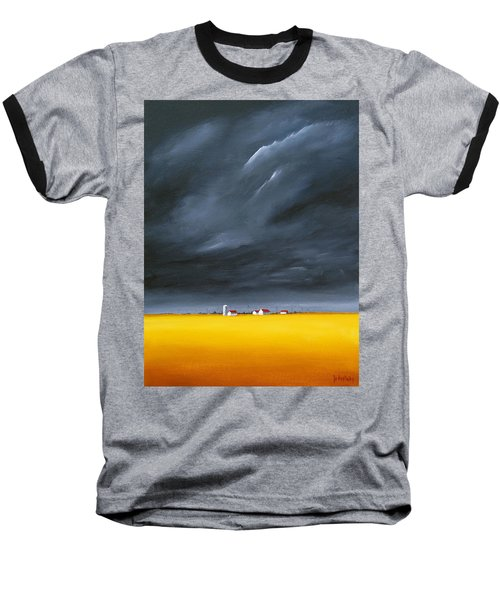Dark And Stormy Baseball T-Shirt by Jo Appleby