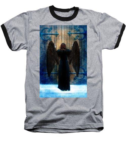 Dark Angel At Church Doors Baseball T-Shirt