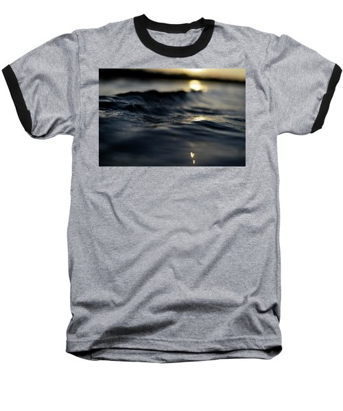 Baseball T-Shirt featuring the photograph Dark Atlantic Traces by Laura Fasulo