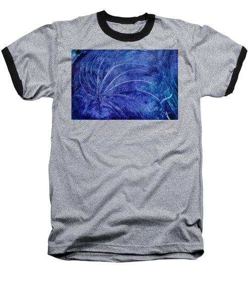Dark Blue Abstract Baseball T-Shirt
