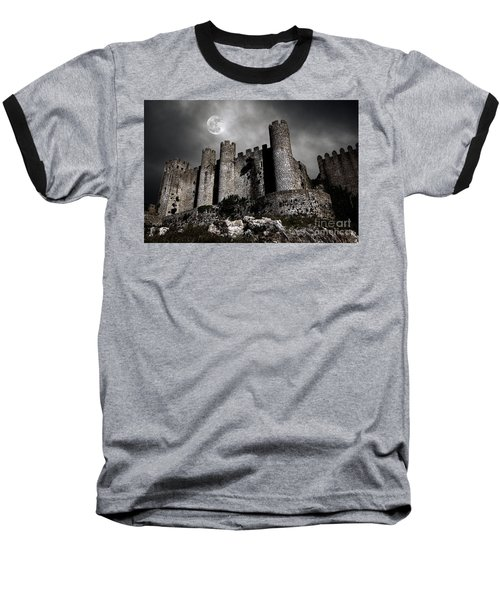 Dark Castle Baseball T-Shirt by Carlos Caetano
