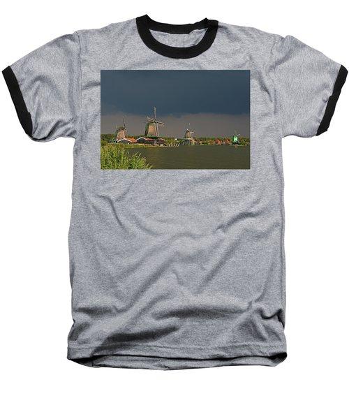 Dark Clouds Above Zaanse Schans Baseball T-Shirt