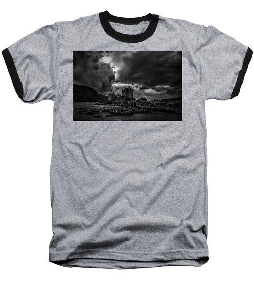 Dark Clouds Bw #h2 Baseball T-Shirt