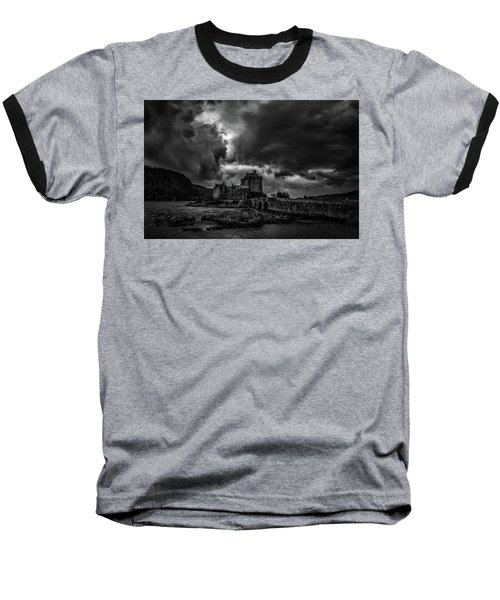 Dark Clouds Bw #h2 Baseball T-Shirt
