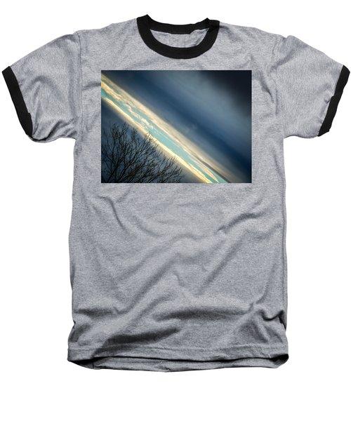 Dark Clouds Parting Baseball T-Shirt
