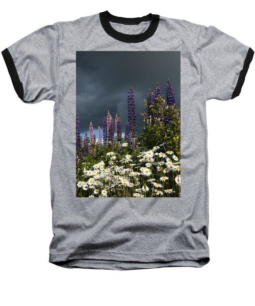 Dark Clouds Baseball T-Shirt