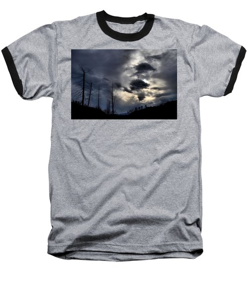 Baseball T-Shirt featuring the photograph Dark Clouds by Tara Turner