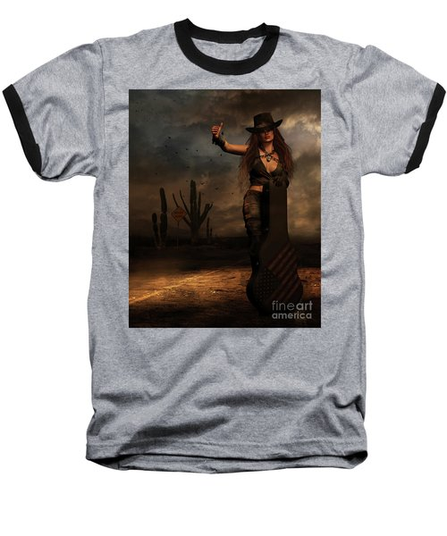 Dark Desert Highway Baseball T-Shirt