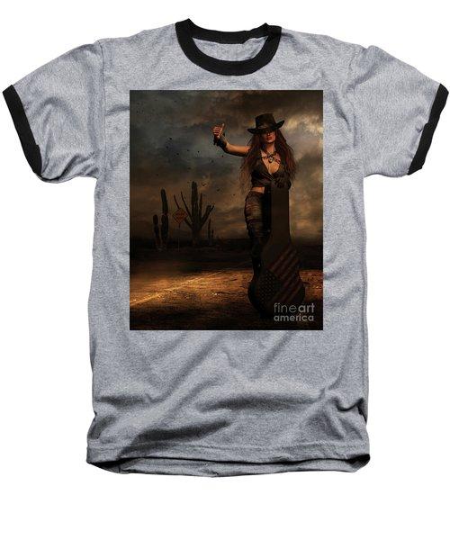 Dark Desert Highway Baseball T-Shirt