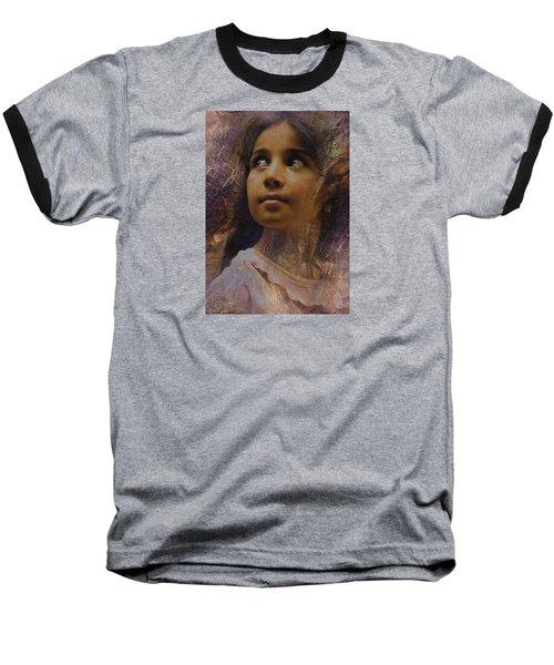 Dark Eyed Beauty Baseball T-Shirt