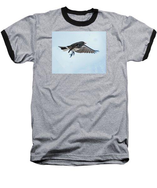 Dark-eyed Junco Flying Baseball T-Shirt