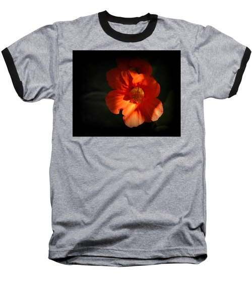 Baseball T-Shirt featuring the photograph Dark Flower by AJ Schibig