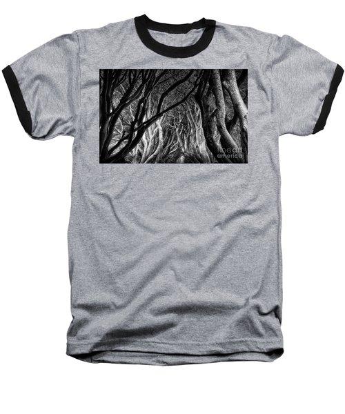 Dark Hedges Kings Road Baseball T-Shirt
