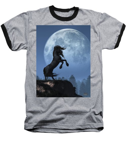 Dark Horse And Full Moon Baseball T-Shirt