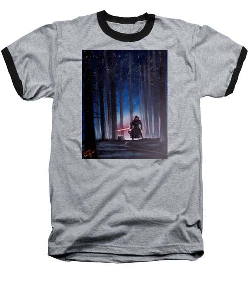 Baseball T-Shirt featuring the painting Dark Jedi by Dan Wagner