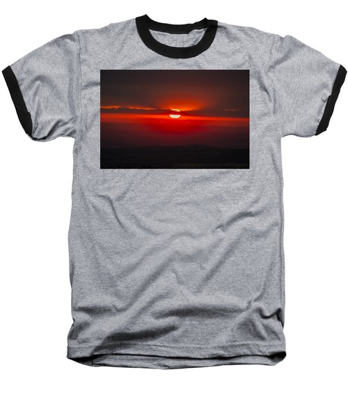 Dark Red Sun In Vogelsberg Baseball T-Shirt