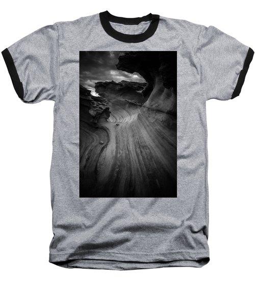 Dark Side Baseball T-Shirt by Bjorn Burton