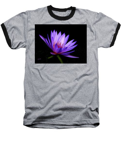 Dark Side Of The Purple Water Lily Baseball T-Shirt