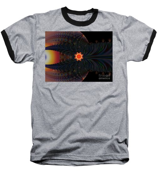 Dark Space Fractal  Baseball T-Shirt