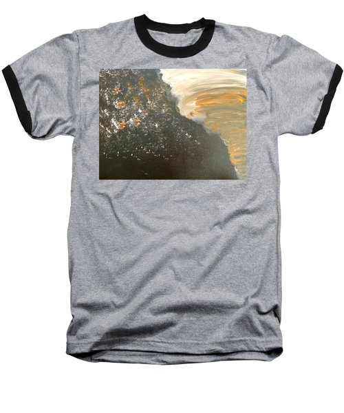 Baseball T-Shirt featuring the painting Dark Storm by Barbara Yearty