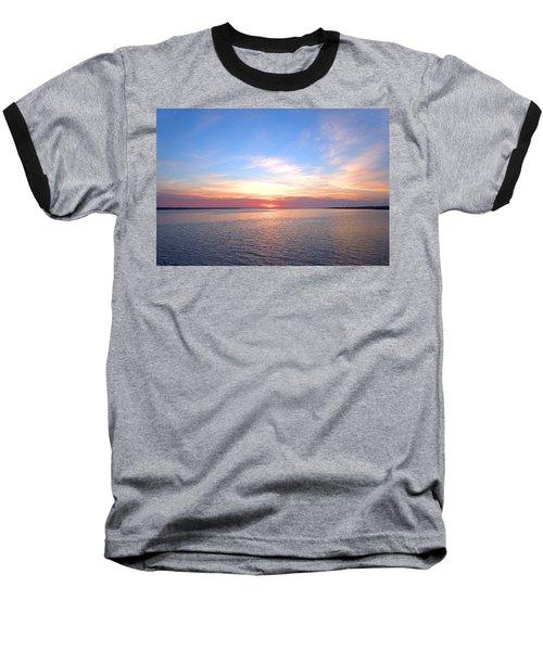 Dark Sunrise I I Baseball T-Shirt by  Newwwman