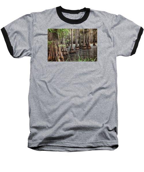 Dark Swamp Baseball T-Shirt by Ester  Rogers