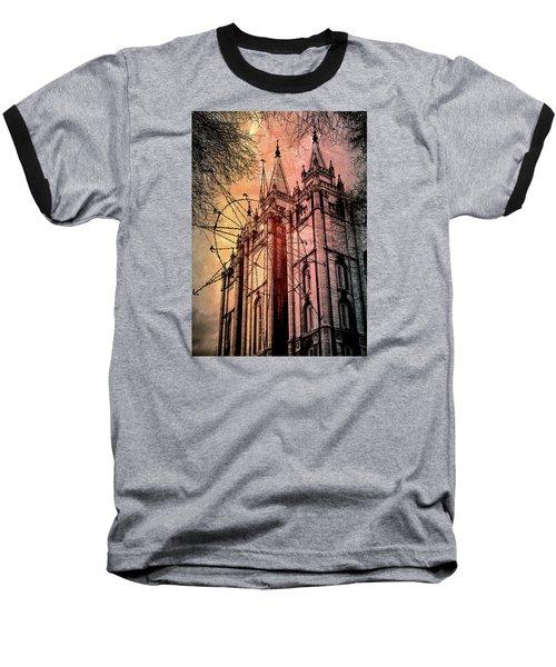 Dark Temple Baseball T-Shirt